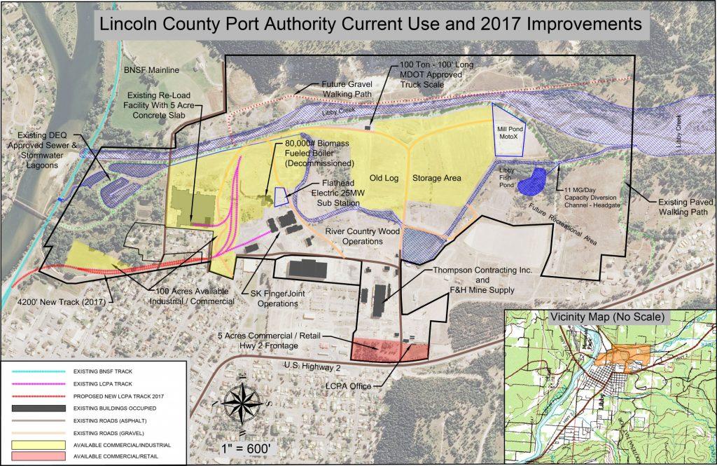 Lincoln County Montana Map.Kootenai Business Park Lcpa